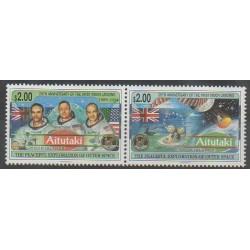 Aitutaki - 1994 - Nb 550/551 - Space