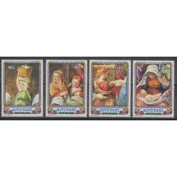Aitutaki - 1992 - Nb 520/523 - Christmas