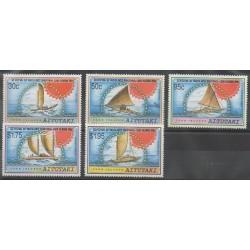 Aitutaki - 1992 - Nb 510/514 - Boats