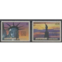 Aitutaki - 1986 - Nb 439/440 - Monuments