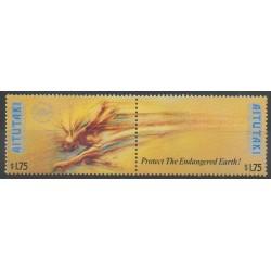 Aitutaki - 1990 - No 493/494 - Environnement