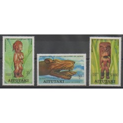 Aitutaki - 1978 - Nb 221/223 - Art - Various Historics Themes