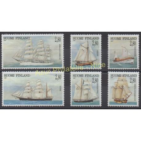 Finlande - 1997 - No 1351/1356 - Bateaux