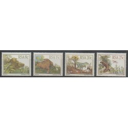 Afrique du Sud - 1982 - No 527/530 - Animaux préhistoriques