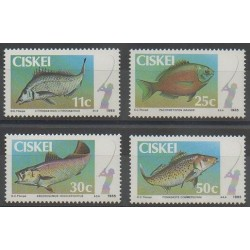 South Africa - Ciskey - 1985 - Nb 70/73 - Sea animals