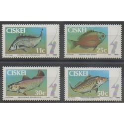 Afrique du Sud - Ciskey - 1985 - No 70/73 - Animaux marins