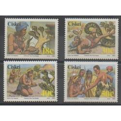 Afrique du Sud - Ciskey - 1990 - No 166/169 - Folklore
