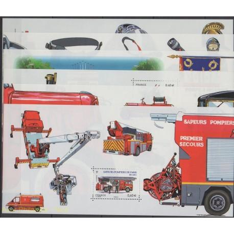 France - Bloc souvenir - 2011 - No BS 59 / BS 64 - Pompiers