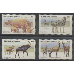 South Africa - Bophuthatswana - 1983 - Nb 100/103 - Mamals