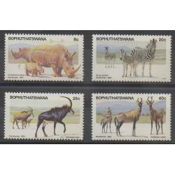Afrique du Sud - Bophuthatswana - 1983 - No 100/103 - Mammifères