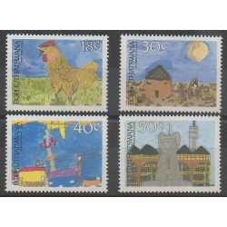 South Africa - Bophuthatswana - 1989 - Nb 218/221 - Children's drawings