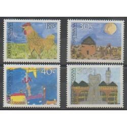 Afrique du Sud - Bophuthatswana - 1989 - No 218/221 - Dessins d'enfants