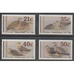 Afrique du Sud - Bophuthatswana - 1990 - No 239/242 - Oiseaux