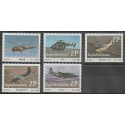 Afrique du Sud - Bophuthatswana - 1990 - No 252/256 - Aviation - Hélicoptères
