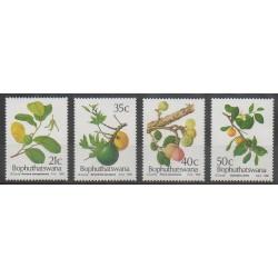 Afrique du Sud - Bophuthatswana - 1991 - No 257/260 - Fruits ou légumes