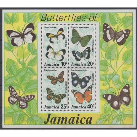 Jamaïque - 1977 - No BF 10 - Papillons