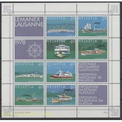 Suisse - 1978 - No BF 23 - Bateaux
