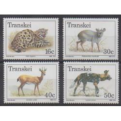 Afrique du Sud - Transkei - 1988 - No 226/229 - Mammifères - Espèces menacées - WWF
