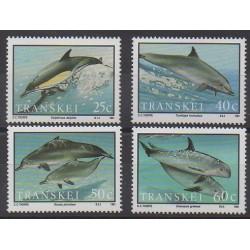 Afrique du Sud - Transkei - 1991 - No 267/270 - Mammifères - Animaux marins