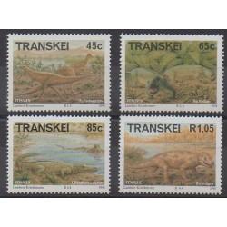 Afrique du Sud - Transkei - 1993 - No 303/306 - Animaux préhistoriques
