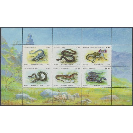 Ouzbékistan - 1999 - No 160/165 - Animaux