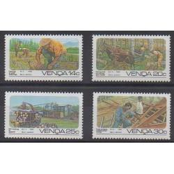 Afrique du Sud - Venda - 1986 - No 142/145 - Artisanat ou métiers