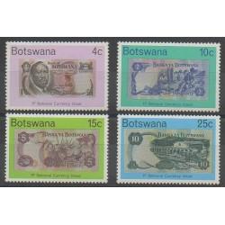 Botswana - 1976 - No 303/306 - Monnaies, billets ou médailles