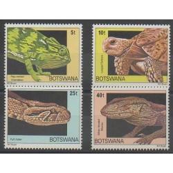 Botswana - 1980 - Nb 395/398 - Reptils