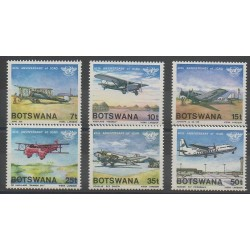 Botswana - 1984 - No 497/502 - Aviation