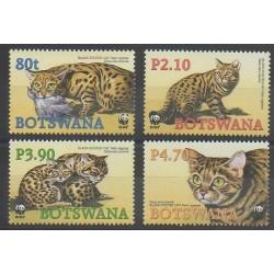 Botswana - 2005 - No 945/948 - Mammifères - Espèces menacées - WWF
