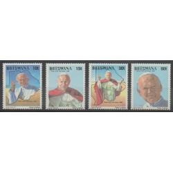 Botswana - 1988 - Nb 587/590 - Pope
