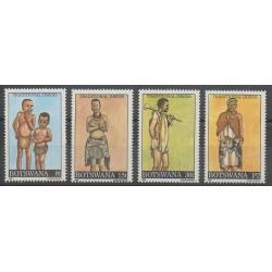 Botswana - 1990 - Nb 626/629 - Costumes