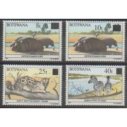 Botswana - 1992 - No 657/660 - Mammifères
