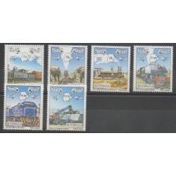 Botswana - 1997 - No 794/799 - Chemins de fer