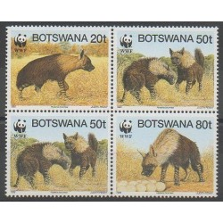 Botswana - 1995 - Nb 737/740 - Mamals - Endangered species - WWF