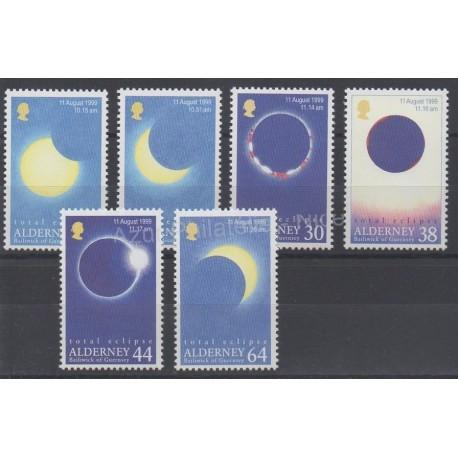 Aurigny (Alderney) - 1999 - Nb 132/137 - Sciences