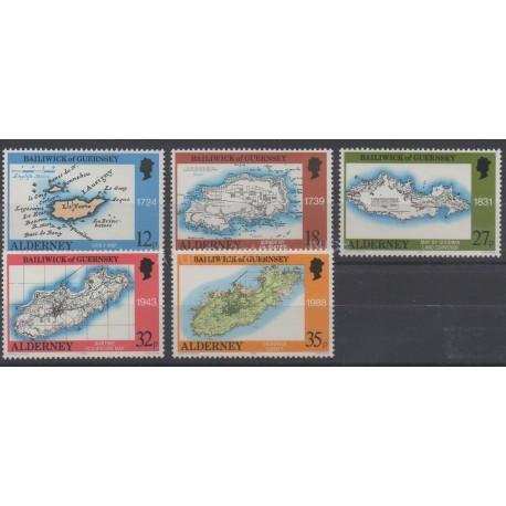 Aurigny (Alderney) - 1989 - No 37/41