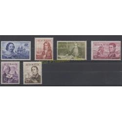Australie - 1970 - No 335/340 - Célébrités