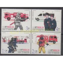 Macao - 2001 - Nb 1049/1052 - Firemen