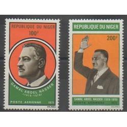 Niger - 1971 - No PA146/PA147 - Célébrités