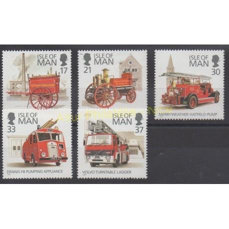 Man (Ile de) - 1991 - No 507/511 - Pompiers