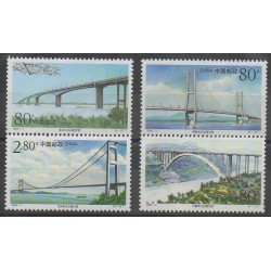 China - 2000 - Nb 3793/3796 - Bridges