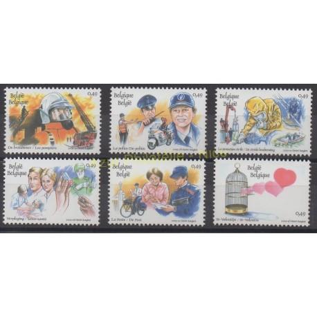 Stamps - Theme firemen - Belgium - 2003 - Nb 3143/3148