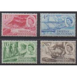 Tristan da Cunha - 1969 - No 124/127 - Navigation - Neufs avec charnière