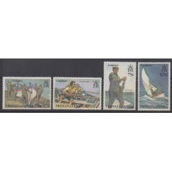 Tristan da Cunha - 1972 - Nb 174/177 - Boats