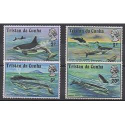 Tristan da Cunha - 1975 - No 201/204 - Mammifères - Animaux marins