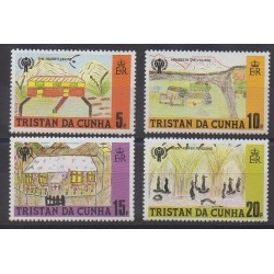 Tristan da Cunha - 1979 - Nb 263/266 - Children's drawings