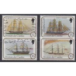 Tristan da Cunha - 1982 - Nb 306/309 - Boats