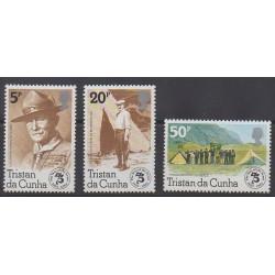 Tristan da Cunha - 1982 - Nb 314/316 - Scouts