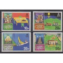 Tristan da Cunha - 1984 - No 362/365 - Noël - Dessins d'enfants